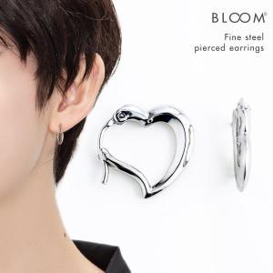 ピアス レディース ステンレス フープ ハート BLOOM ブルーム|bloomonline