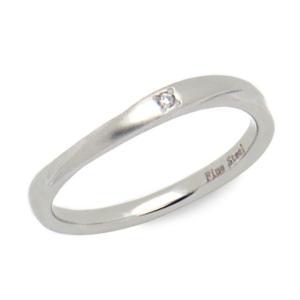 指輪 ペアリング ステンレス ダイヤモンド レディース メンズ BLOOM ブルーム bloomonline