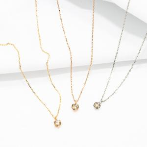 ネックレス レディース 18金 ブラウンダイヤモンド プラチナ K18 18k ESTELLE エステール bloomonline
