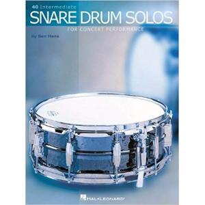 40 INTERMEDIATE SNARE DRUM SOLOS・40インターメディエイト・スネアドラム・ソロ (Ben Hans著) / スネア・エチュード集 パーカッション・ドラム輸入教則本|bloomz