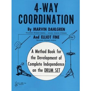 4-WAY COORDINATION (Marvin Dahlgren & Elliot Fine著) / ドラムセットコントロール教本 パーカッション・ドラム輸入教則本|bloomz