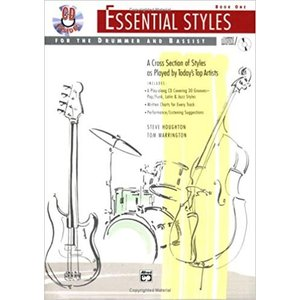 ESSENCIAL STYLES FOR DRUMMER & BASSIST 1  / ドラム&ベース音源付き教本 CD付き パーカッション・ドラム輸入教則本|bloomz
