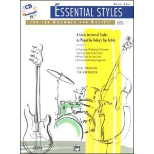 ESSENCIAL STYLES FOR DRUMMER & BASSIST 2  / ドラム&ベース音源付き教本 CD付き パーカッション・ドラム輸入教則本|bloomz
