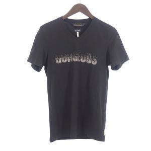 アルマーニジーンズ/ARMANI JEANS GORGERUS スワロ Vネック Tシャツ 22I1...
