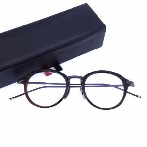 トムブラウン/THOM BROWNE べっ甲 TB-011D-46 眼鏡 メガネ サイズ メンズ46□20-150 ブラウン系鼈甲×ブラック ランクA 102 31J17 (中古)|blowz