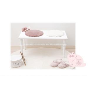 チェアパッド SDS サロンドソワレ リュエール 約35Rcm ピンク/ホワイト|blstyle|02