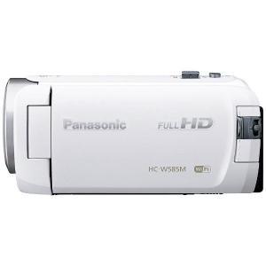 【送料無料】Panasonic パナソニック SD対応 64GBメモリー内蔵フルハイビジョンビデオカメラ(ホワイト) HC-W585M-W|blue-century