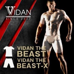 送料無料2組セット ビダンザビースト上下セット 加圧シャツ + 加圧スパッツ セット (VIDAN ...