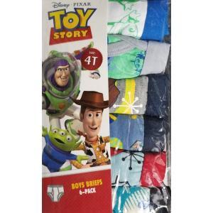 【メール便送料無料】ディズニー パンツ 6枚セット 『トイストーリー  男児 6枚 4T』Disney  子供用 男の子 ボーイズ 下着 ブリーフ キャラクター|blue-mermaid