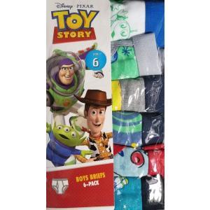 【メール便送料無料】ディズニー パンツ 6枚セット 『トイストーリー  男児 6枚 6T』Disney  子供用 男の子 ボーイズ 下着 ブリーフ キャラクター|blue-mermaid