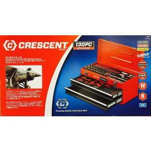 【送料無料】CRESCENT 『メカニックツールセット』 130PC 専用メタルボックス付 クレセントツール  工具セット  コストコ|blue-mermaid