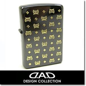 Zippo ジッポ ライター DAD デーアーデー  ディルス エッチング ロゴ 2001 ブラック