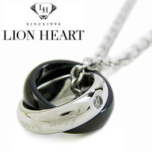ライオンハート ネックレス メンズ LION HEART ダブルリングネックレス 04N124SM ステンレスネックレス