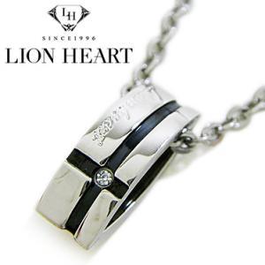 ライオンハート ネックレス メンズ LION HEART クロスラインペンダント 04N125SM ステンレスネックレス