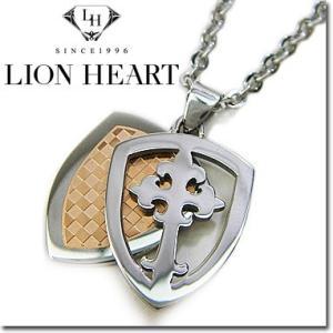 ライオンハート ネックレス レディース LION HEART エンブレムペンダント 04N131SL ステンレスネックレス