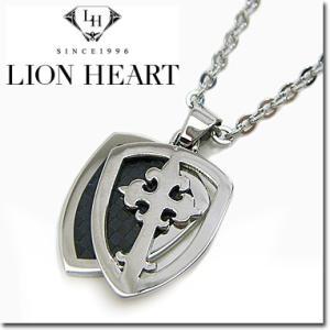 ライオンハート ネックレス メンズ LION HEART エンブレムペンダント 04N131SM ステンレスネックレス