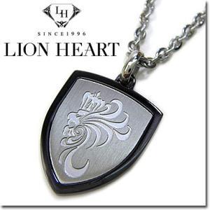 ライオンハート ネックレス メンズ LION HEART Howl エンブレムペンダント 04N151SM ステンレスネックレス