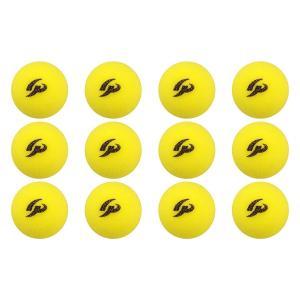 GP  ジーピー 野球バッティングトレーニングボール スポンジ素材 黄色 42mm 12個入り