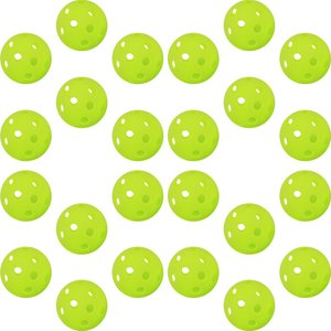 GP  ジーピー 野球 バッティング トレーニングボール 穴あき PE素材 蛍光緑 42mm 24個入り