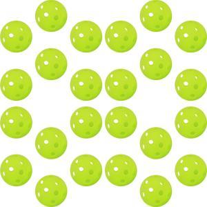 [GP]  野球 バッティング トレーニングボール 穴あき PE素材 蛍光緑 72mm 24個入り