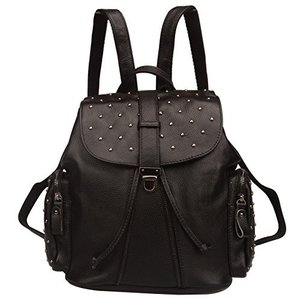Fiswiss Women's Genuine Leather Everyday Backpack ...