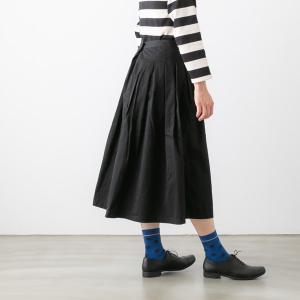 GRANDMA MAMA DAUGHTER グランマ・ママ・ドーター チノ プリーツ ロングスカート 3色 92103137|bluebeat-y