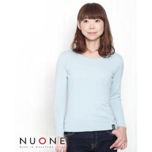 NUONE ヌワン 海島綿 長袖 コットン ニット プルオーバー 6色 B16980 bluebeat-y