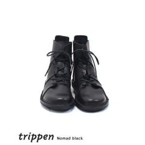 trippen トリッペン レースアップ レザー ショートブーツ ノマド ブラック Nomad black|bluebeat-y