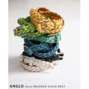 【40%OFF】ANGLO アングロ#8003 20mm ソリッドレザーメッシュベルト 6色 bluebeat-y