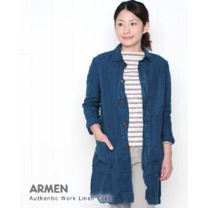 【30%OFF】ARMEN アーメン <br /> Authentic Work Linen Coat オーセンティックワークリネンコート 3色 NAM1502LH bluebeat-y