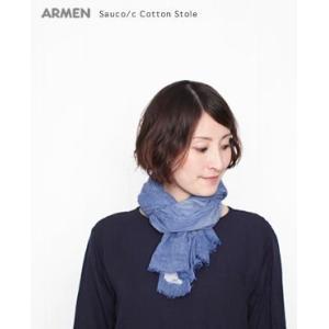 (ネコポスOK)  ARMEN アーメン コットンストール Sauco/cro 4色 NAMP1402|bluebeat-y