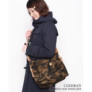 CLEDRAN クレドラン CAMOUFLAGE SHOULDER L カモフラージュ ショルダーバッグ CL1920 bluebeat-y