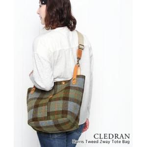 CLEDRAN クレドラン ハリス ツイード 2way トート バッグ 2色 CL-2352 bluebeat-y