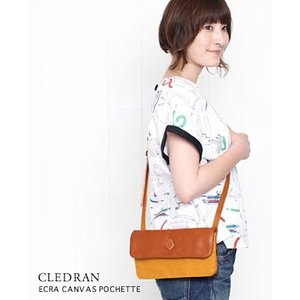 CLEDRAN クレドラン ECRA CANVAS POCHETTE キャンバス ポシェット 4色 CL2172 bluebeat-y