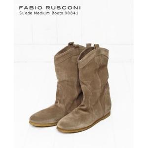 【50%OFF】FABIO RUSCONI ファビオルスコーニ スエード ミディアム ブーツ 2色 98841|bluebeat-y
