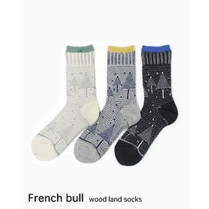 【ネコポスOK】French bull フレンチブル ウッドランドソックス 3色 11-33172|bluebeat-y