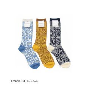 (メール便OK) French bull フレンチブル ピクニックソックス 3色 117-396|bluebeat-y