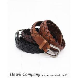 Hawk Company ホークカンパニー レザー メッシュ ベルト 4色  1485 bluebeat-y