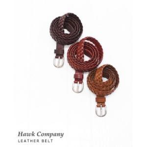 Hawk Company ホークカンパニー レザー メッシュ ベルト 3色 1486 bluebeat-y
