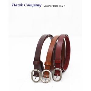Hawk Company ホークカンパニー レザー 細ベルト 3色 1527 bluebeat-y