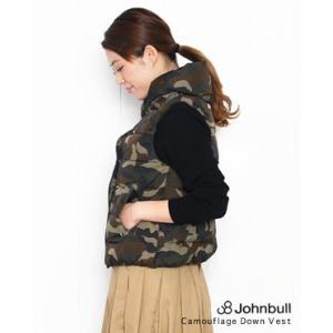 【30%OFF】Johnbull ジョンブル 迷彩 ダウンベスト 223(ウッドランドカモ) AH002|bluebeat-y