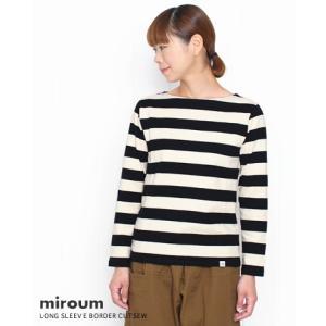 (ネコポスOK) miroum ミロウム 太いしましまの長袖カットソー 2色 mir-cs10088|bluebeat-y