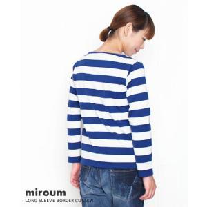 (ネコポスOK) miroum ミロウム 太いしましまの長袖カットソー 2色 mir-cs10088|bluebeat-y|02