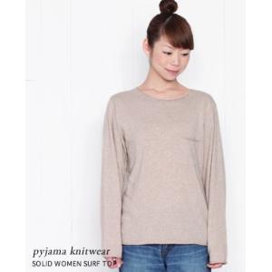 pyjama knitwear ピジャマニットウェア コットンニットプルオーバー 3色 SOLID SURF TOP WOMEN|bluebeat-y