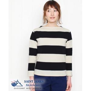 SAINT JAMES セントジェームス エクストラ ワイドボーダー 長袖 カットソー 2色 16JC OUES8×8|bluebeat-y