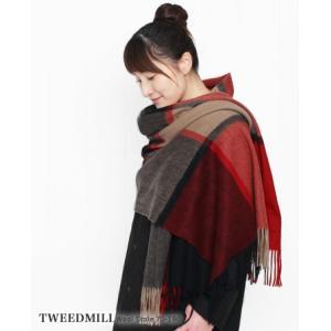 【20%OFF】 TWEEDMILL ツイードミル ウール ストール 3色 70-190|bluebeat-y