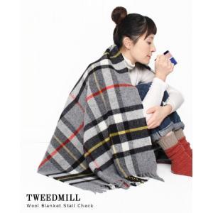 【30%OFF】 TWEEDMILL ツイードミル ウールブランケット チェックストール 8色 7900|bluebeat-y
