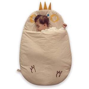 ベビーアムールBebamour ベビー用スリーパー 寝袋 赤ちゃん 寝冷え防止 綿製 秋冬対応 2way おくるみ ベビー寝具 (ベージュ)|bluebird-shoji