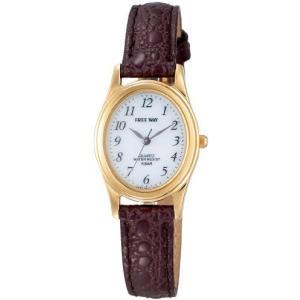 [シチズン Q&Q] 腕時計 アナログ ソーラー 防水 革ベルト AA95-9917 レディース ホワイト × ブラウン (文字盤色-ホワイト) bluebird-shoji