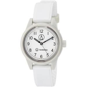 [シチズン Q&Q] 腕時計 アナログ スマイルソーラー 防水 ウレタンベルト RP01-014 レディース ホワイト (ホワイト) bluebird-shoji